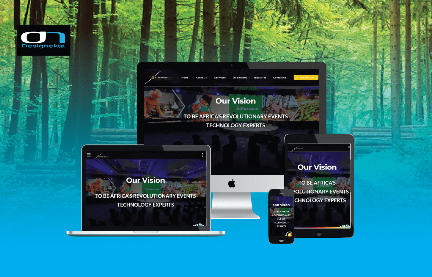 Stagepass Audio Visual Website