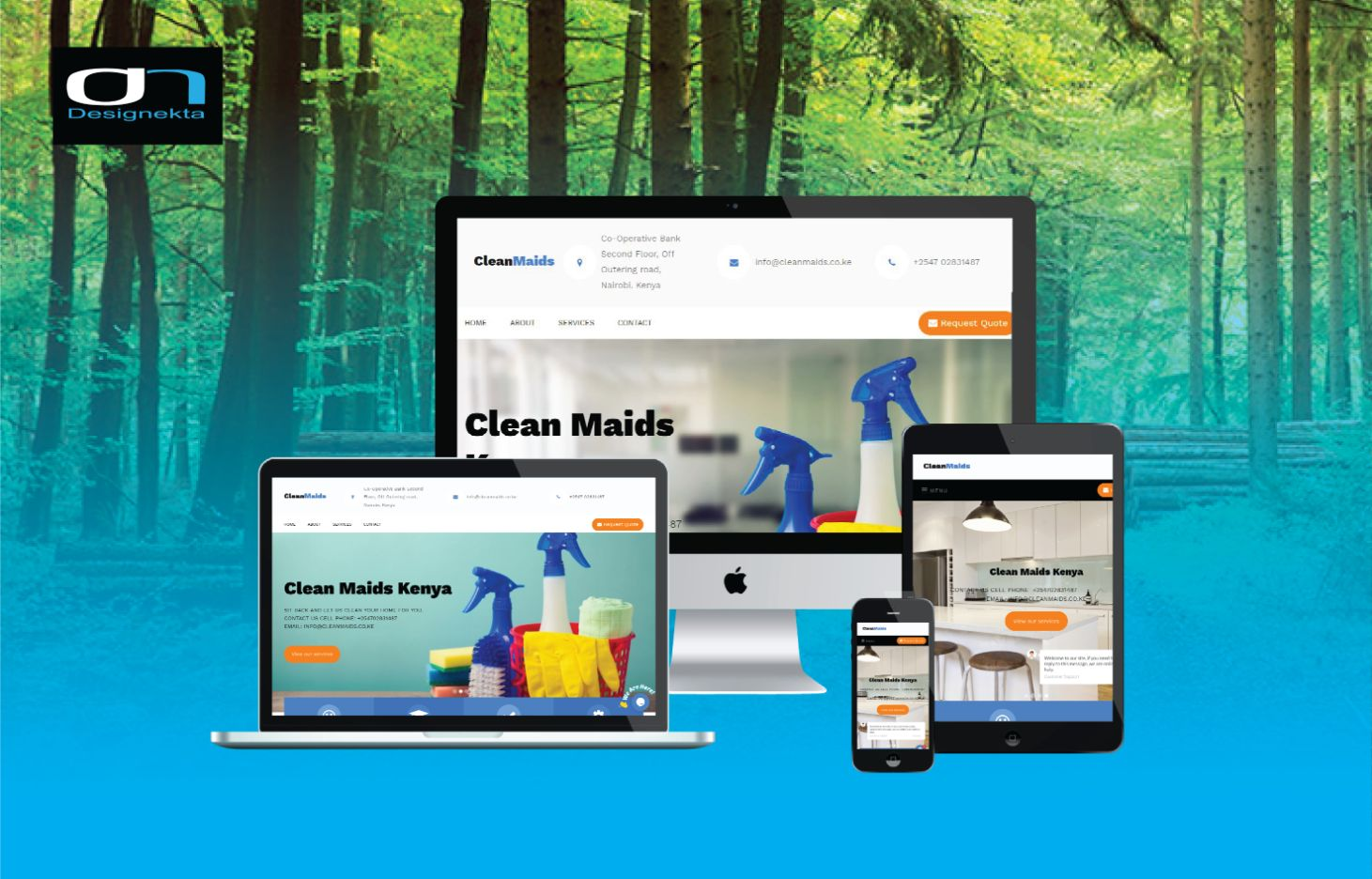 Clean maids Website
